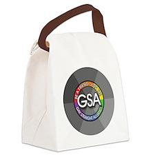 GSAbuttonGrayRainbow Canvas Lunch Bag