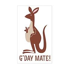 GDay Mate Kangaroo Stickers