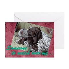Watch Over Me Valentine's Greeting Cards (6 cards)