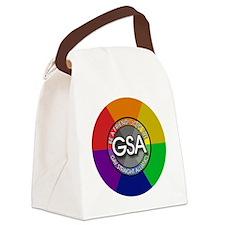 GSAbuttonRainbow Canvas Lunch Bag