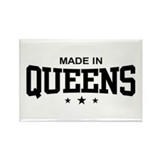 Made in Queens Rectangle Magnet