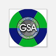 "GSAbuttonBlueGreen Square Sticker 3"" x 3"""