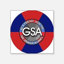 """GSAbuttonRedBlue Square Sticker 3"""" x 3"""""""