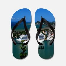 St. Lucia cruise ships52x62 Flip Flops