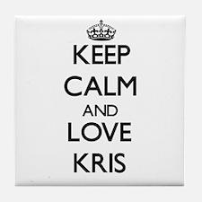 Keep Calm and Love Kris Tile Coaster