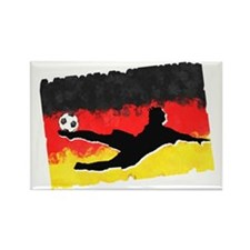 Soccer-Germany Rectangle Magnet