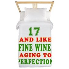 Funny 17 And Like Fine Wine Birthday Twin Duvet