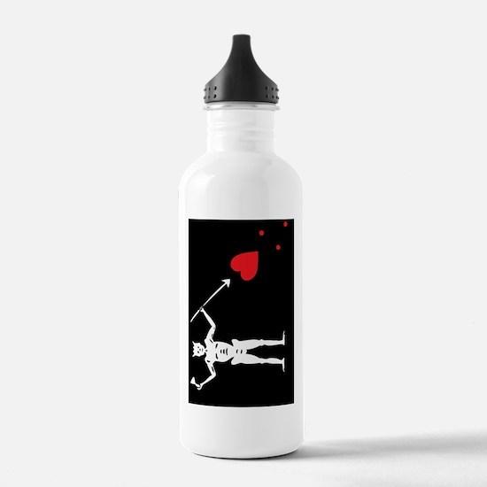 Pirate_Flag_Black_Bear Water Bottle
