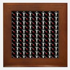 Pirate_Flag_Black_Beard(B) Framed Tile