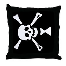 Pirate_Flag_Emanuel_Wynne(F) Throw Pillow