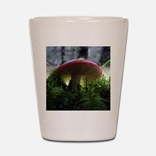 redmushroomlapelsticker Shot Glass