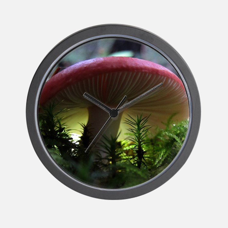 redmushroomcalendarprint Wall Clock