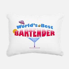 world-best-bartender Rectangular Canvas Pillow