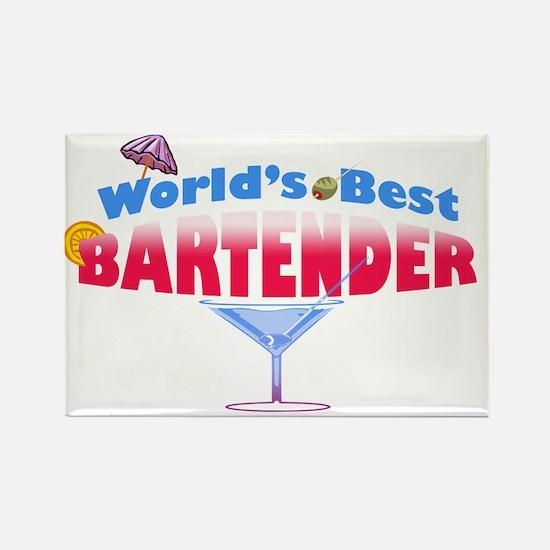 world-best-bartender Rectangle Magnet