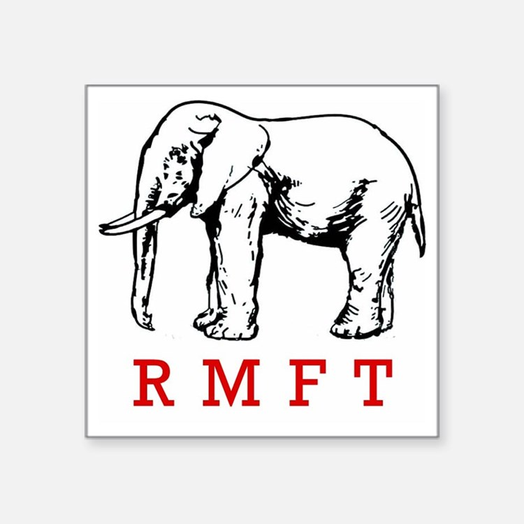 "rmft t shirt copy Square Sticker 3"" x 3"""