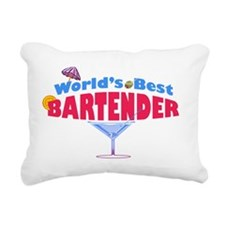 world-best-bartender-lig Rectangular Canvas Pillow