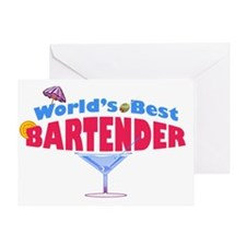 world-best-bartender-light Greeting Card