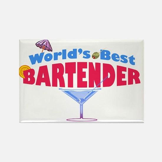 world-best-bartender-light Rectangle Magnet