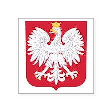 "Poland Square Sticker 3"" x 3"""