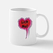 Lick Me Heart Speak Balloon Mug