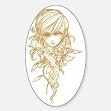 GirlGamerGoldWhiteT Decal
