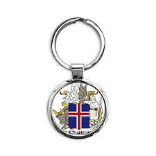 Iceland Round Keychain