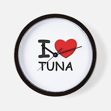 I love tuna Wall Clock
