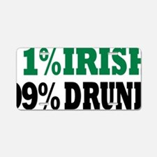 irish_99_drunk Aluminum License Plate