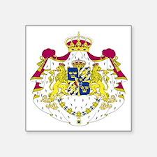 """Sweden Square Sticker 3"""" x 3"""""""