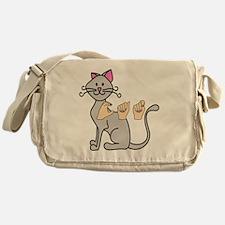 CatPainted Messenger Bag