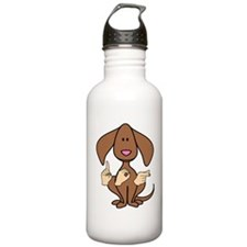 DogPainted Water Bottle