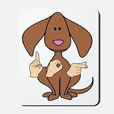 DogPaintedDk Mousepad