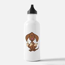DogPaintedDk Water Bottle