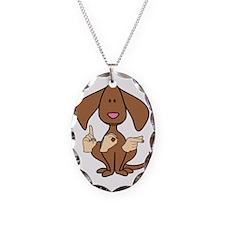 DogPaintedDk Necklace