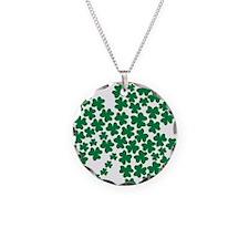 shamrock_pattern Necklace Circle Charm
