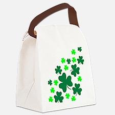 shamrocks_up Canvas Lunch Bag
