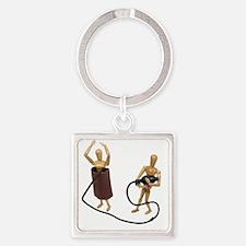 UnderPressureTwo060509 Square Keychain