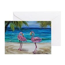 Lovey Pink Flamingos 4x6 Greeting Card