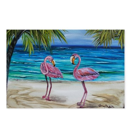 Lovey Pink Flamingos 4x6 Postcards (Package of 8)