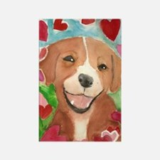 Puppy Love Valentine 1 Rectangle Magnet
