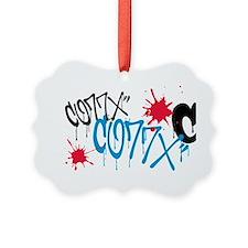 CO77X splatter Ornament