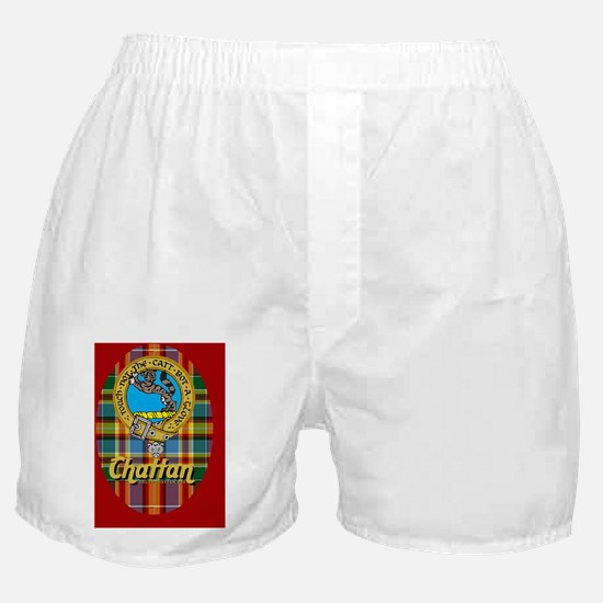 2-chat2.5x3.5ovalorn-b Boxer Shorts