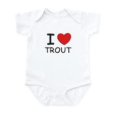 I love trout Infant Bodysuit