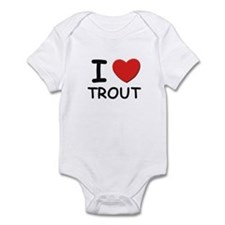 I love trout Onesie