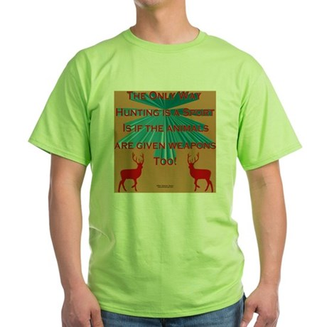 AntiHuntPillow Green T-Shirt