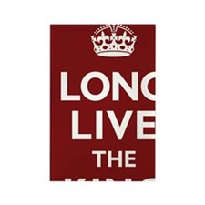 Long Live the King Poster - Dark Rectangle Magnet