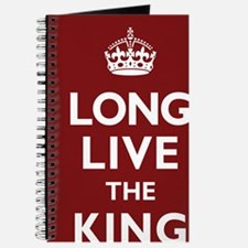Long Live the King Poster - Dark Red Journal