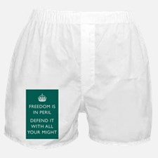 Freedom is in Peril Poster - Green Boxer Shorts