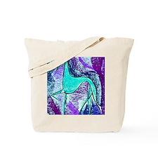 Aqua Grey Tote Bag