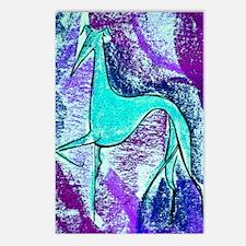 Aqua Grey Postcards (Package of 8)